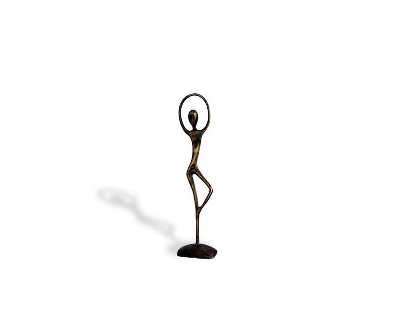 Small Ballerina Brass Ornament