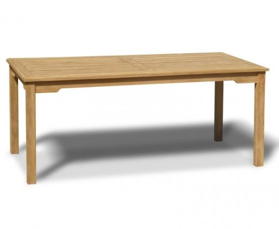 Hampton Teak Rectangular Garden Dining Table - 1.8m