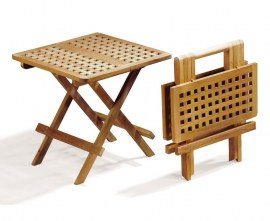 Teak Small Folding Picnic Table - Square