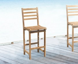 Sussex Teak Outdoor Bar Stool