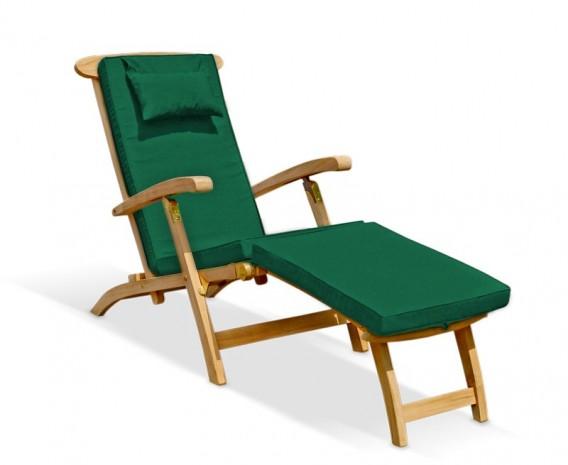Serenity Teak Steamer Chair with Cushion