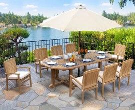 Teak 8 Seater Patio Set