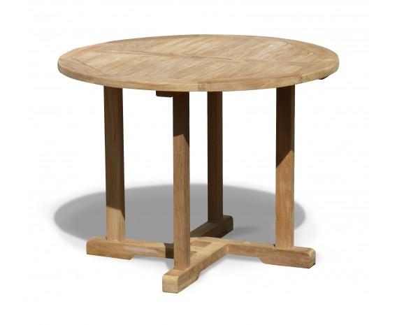 Sissinghurst Teak Round Garden Dining Table - 1m