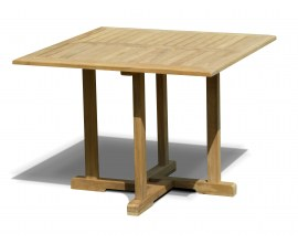 Sissinghurst Teak Square Garden Dining Table - 1m