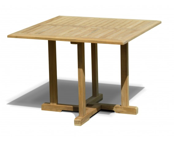 Sissinghurst Teak Square Garden Dining Table - 1m