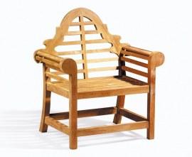 Teak Lutyens-style Garden Armchair