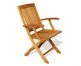 Cannes Outdoor Folding Chair with Arms