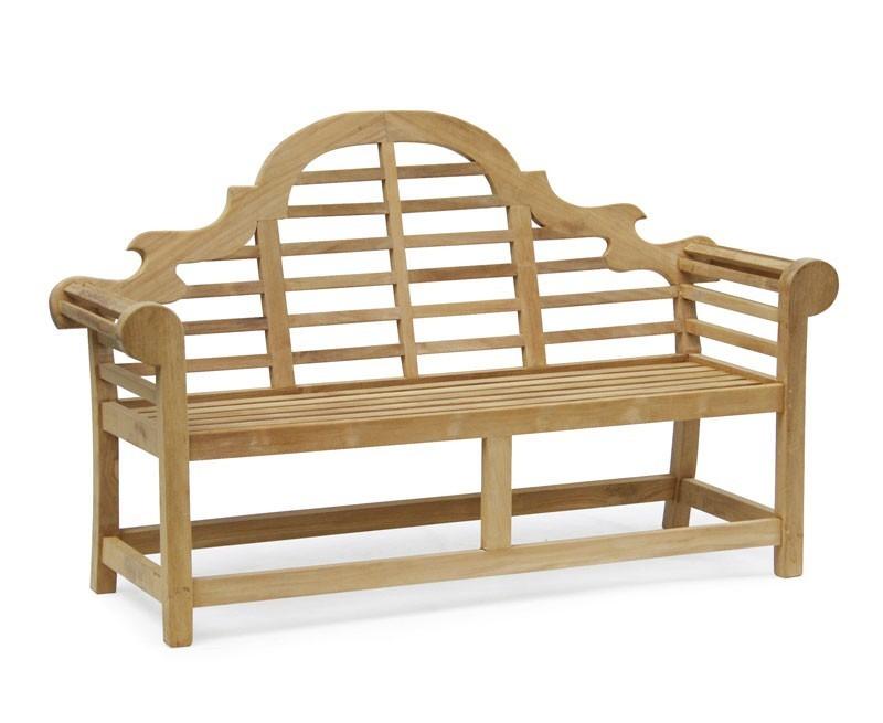 Lutyens-style Teak Ornate Garden Bench - 1.65m