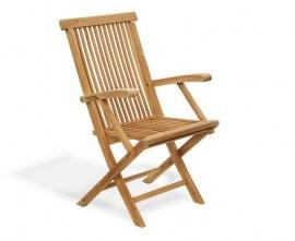 Newhaven Teak Foldable Teak Outdoor Chairs