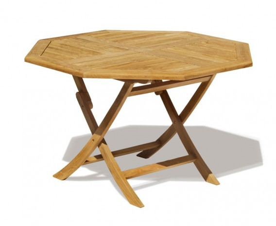 Lymington 5ft Octagonal Teak Garden Table - 1.5m