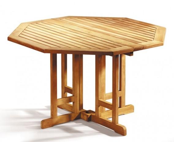 Berwick Teak Octagonal Gateleg Garden Table - 1.2m