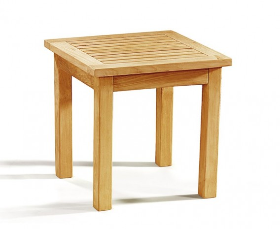 Teak Square Side Table, Outdoor Occasional Table