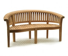 Deluxe Teak Garden Banana Coffee Table Set