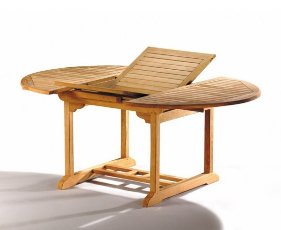 Oxburgh Single Leaf Extending Table with 6 Cannes Folding Chairs