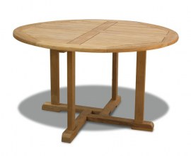 Sissinghurst Round Teak Outdoor Dining Table - 1.3m