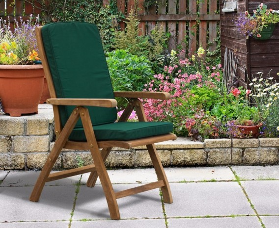 Sissinghurst 6 Seater Round 1.5m Dining Set with Cannes Recliners