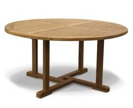 Sissinghurst Round Teak Garden Table and Chairs Set