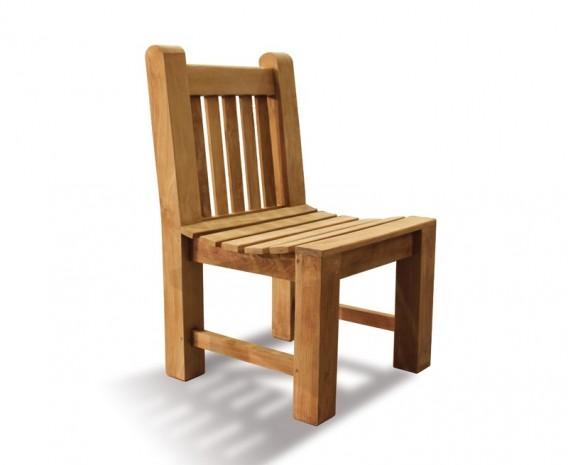 Chunky Teak Garden Dining Chair
