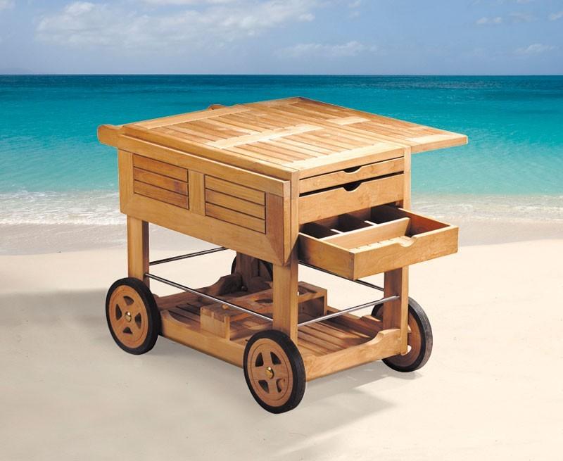Drinks Trolley, Teak Wood