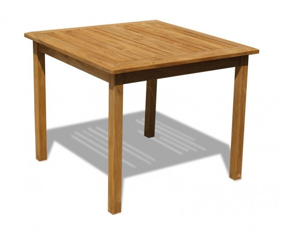 Hampton Teak Square Garden Table - 90cm