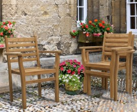 Sussex Teak Stacking Chairs