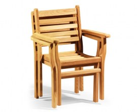 Sussex Stacking Chairs Set with Extending Table