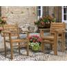 Oxburgh Teak Oval Garden Dining Set
