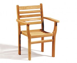 Sussex Teak Stacking Chair