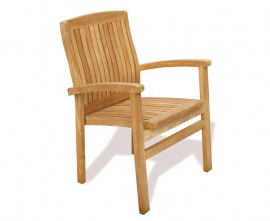 Cannes Teak Stacking Chair