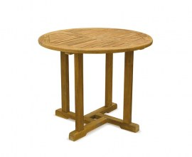 Sissinghurst Round Teak Outdoor Dining Table - 90cm