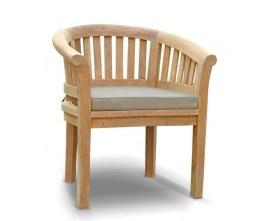Contemporary Teak Garden Chair with cushion