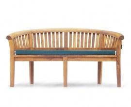 Contemporary Teak Peanut Bench with cushion