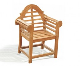 Lutyens-Style Teak Kid's Outdoor Chair