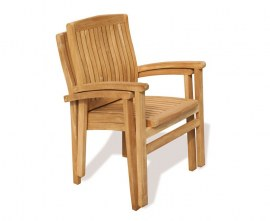 Cannes Stacking Armchairs Set with Oxburgh Extending Table