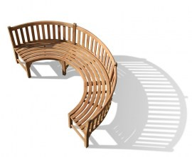 Marlow Teak Curved Bench