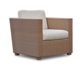 Rattan outdoor armchair