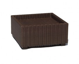 Rattan outdoor footstool