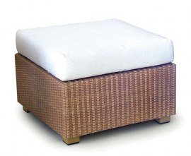 Rattan garden footstool
