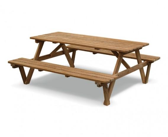 Luxury 6ft Picnic Bench Teak - 1.8m