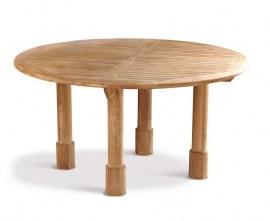 Titan 5ft Teak Round Patio Table – 1.5m