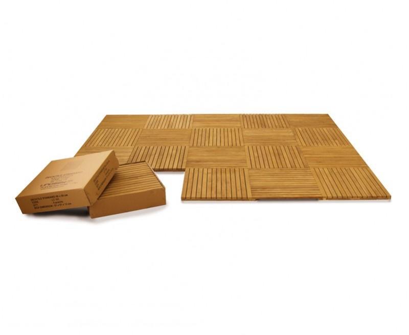 Set of 4 Teak Deck Tiles – Standard