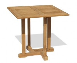 Sissinghurst Square Teak Outdoor Dining Table - 80cm