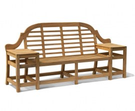 Tewkesbury Teak Decorative Garden Bench - 2.27m