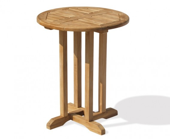 Sissinghurst Teak Round Garden Table - 60cm