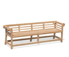 Teak Low Back Lutyens Outdoor Bench - 2.25m