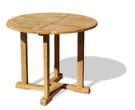 Sissinghurst Round Teak Outdoor Dining Table - 80cm