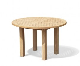 Orion Teak Circular Garden Table - 1.2m