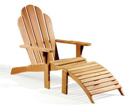 Deluxe Teak Garden Adirondack Chair