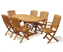 Oxburgh Curzon 6 Seater Table and Chairs Set