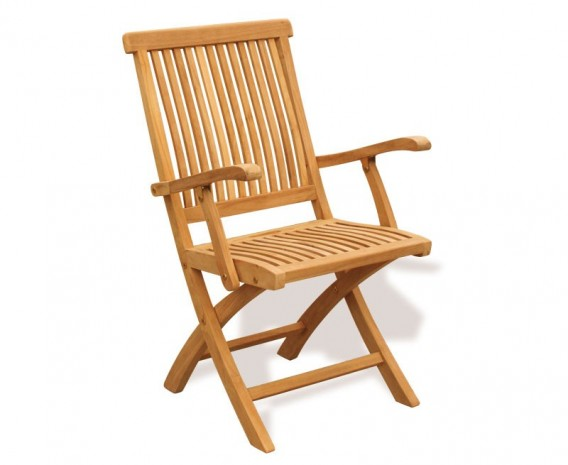 Oxburgh Outdoor Folding Chair with Arms